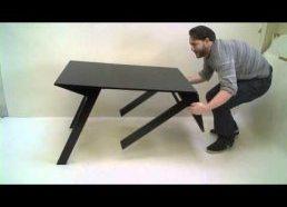 Kavos staliukas išsilanksto į normalų stalą