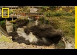 """Spectacular Time Lapse Dam """"Removal"""" Video"""