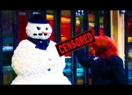 Funny - Funny Scary Snowman Prank