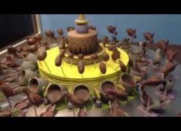 Besusukanti šokolado figūrėlių iliuzija