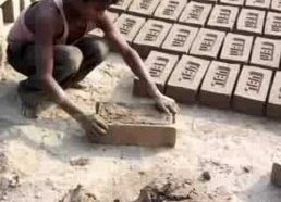 Labai produktyvūs darbininkai - plytų gamintojai