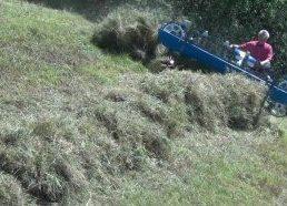 Žolės pjovimo ir vartymo mašinos skirtos kalnuotoms vietovėms - prototipai