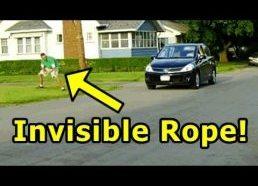 Funny Pranks - Invisible Rope Prank