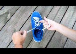 How To Tie a Shoelace Really Really Fast