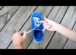 Kaip labai labai greitai užsirišti batų raištelius