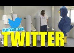 Bird that follows - Follow me on Twitter @nqtv (Rémi Gaillard)