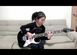 8-Year-Old Japanese Girl Shreds on Her Electric Guitar