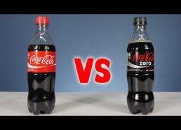 Coca Cola ir Coca Cola Zero - cukraus kiekio testas