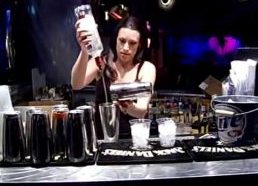 Perfect bartender at the Las Vegas Strip