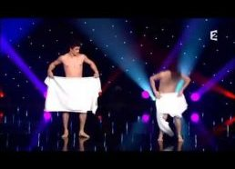 Watch brave French duo perform elaborate nearly NAKED towel dance
