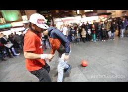 Geriausias gatvės artistas - futbolo kamuoliu