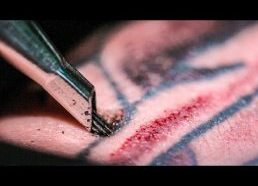 TATTOOING Close Up (in Slow Motion) - Smarter Every Day