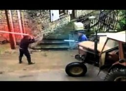 Old Men Lightsaber Duel (Return Of The Geriatric)