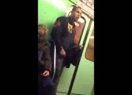 Gipsy guy stealing iPhone on hungarian metro / subway