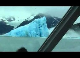 Iceberg flips over, very surreal!