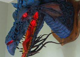 Paper Mache Dragon Trophy-Son of Maleficent