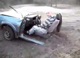 Kai driftina pusė automobilio