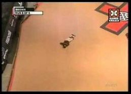 Jake Brown Crash xgames on mega ramp
