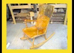 Supama kėdė pagaminta be elektrinių įrankių!