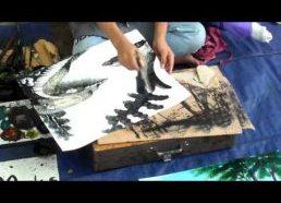 Talentingas jaunas dailininkas iš Mianmaro (buvusi Birma)
