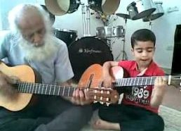 Ali Alavi with Ariyan, His 6 years old son