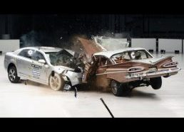 Senas automobilis prieš naują (1959 Chevrolet Bel Air prieš 2009 Chevrolet Malibu)