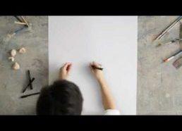 Piešimas neatitraukiant rašiklio (Faber Castell reklama)