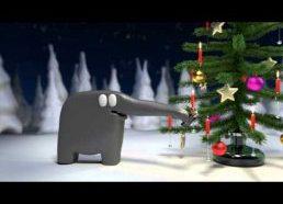 Kalėdinis sveikinimas nuo drambliuko - Animacija