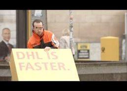 DHL parazitinė reklama visame gražume