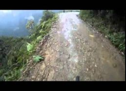 POV of bike base jump off cliff road!