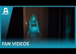Bauginančios vaiduoklių hologramos helovynui