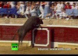 Ispanija: įtūžęs bulius šoka į žiūrovus - sužalota 40 žmonių