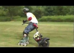 Riedučiai su motoriniu ratu - važiavimui per žolę