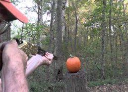 Moliūgo skaptavimas šautuvu