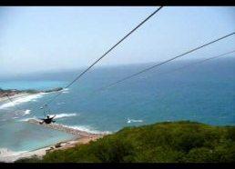 Nusileidimas apie 800m Lynu (tai Ilgiausias lynas virš vandens pasaulyje) - Drakono Alsavimas (Labadee, Haitis)